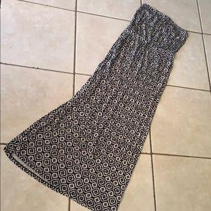 New Old Navy patterned strapless maxi dress medium